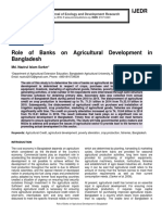 Role of Banks on Agricultural Development in Bangladesh