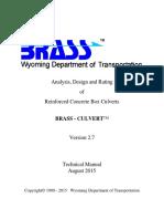 Brass Culvert 2.7 TechnicalManual