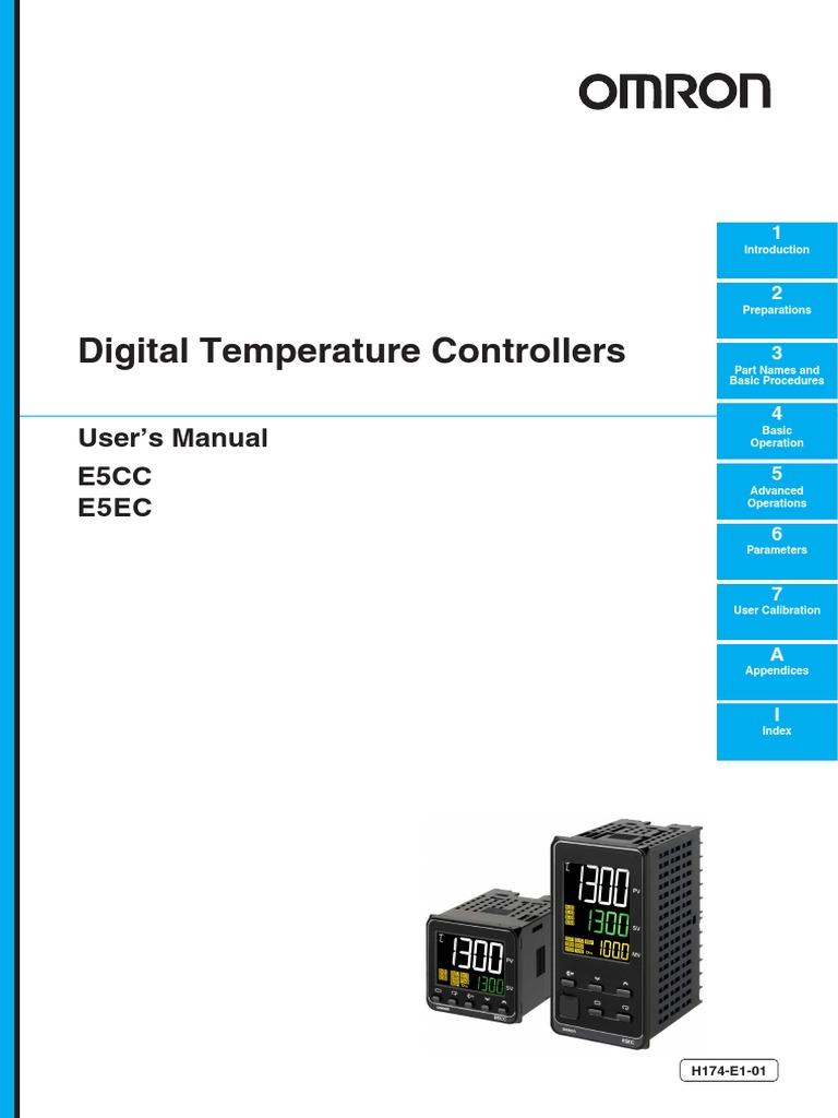 Programaci U00f3n De Control De Temperatura Omron Modelo E5cc Manual Guide