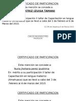 Certificado Lengua Materna