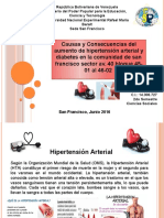 CAUSAS Y CONSECUENCIAS DEL AUMENTO DE HIPERTENSION Y DIABETES EN LA COMUNIDAD DE SAN FRAN FRANCISCO AV.40 BLOQUE 45-01AL 46-02