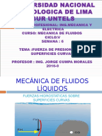Untecs Mecanica de Fluidos Semana 6 Fuerza de Presion Sobre Superficies Curvas