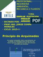 Flotabilidad Principio de Arquimedes Mec. Fluidos Ia 2015-II