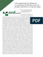 Enfermagem_ Evolução Histórica Da Organização Do Sistema de Saúde No Brasil e a Construção Do Sistema Único de Saúde (SUS) - Princípios, Diretrizes e Arcabouço Legal