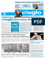 Edición El Siglo 06 de Julio