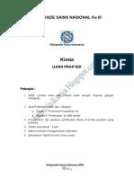 Olimpiade Sains Nasional Kimia Indonesia -  2004 - Soal Praktek