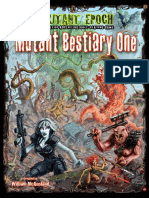 Mutant Bestiary One the Mutant Epoch RPG Preview