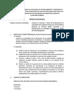 TDR Perfil y Capacitación