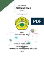 168488485 Diktat Kuliah Elemen Mesin 2 Dhimas PDF