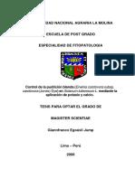 Control de la pudrición blanda (Erwinia carotovora subsp. carotovora (Jones) Dye) en Solanum tuberosum L. mediante la aplicación de potasio y calcio