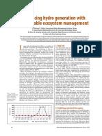 Balancing Hydro Generation With Sustainable Ecosystem Management