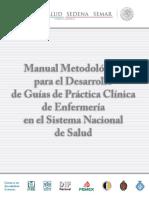 desarrollo de manuales de guia de practicas clínicas Enfermería SSA