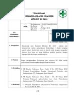 SOP 45. hematology mindray.docx