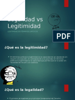 Legalidad vs Legitimidad