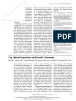 The Patient Experience and Health Outcomes