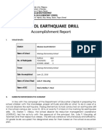School Earthquake Drill Accomplishment_report 2016
