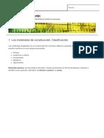 1. Los Materiales de Construcción. Clasificación. TecnoBlogSanMartin