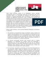 Comunicado Público Juventud Rebelde Pedagógico Frente Al Escenario de Movilizaciones a Nivel Nacional