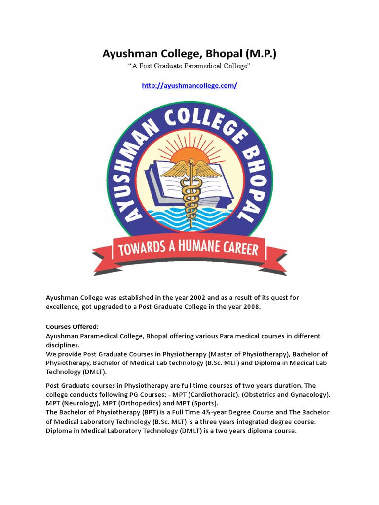 Ayushman College A Post Graduate Paramedical College In Bhopal