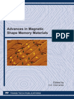 (Materials Science Forum, V. 684) v a Chernenko-Advances in Magnetic Shape Memory Materials _ Special Topic Volume With Invited Peer Reviewed Papers Only-Trans Tech Pub (2011)