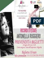 Antonella Ruggiero, Ricordi d'Estate, 24 luglio 2016 Folgarida
