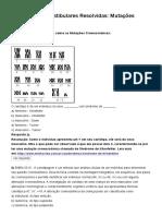 Mutações Cromossômicas - Questões Dos Vestibulares Resolvidas