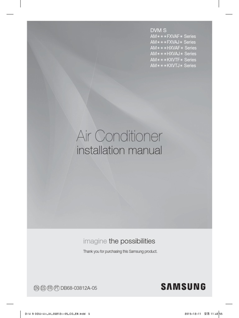samsung dvms installation manual am072fxvafh | air conditioning | duct  (flow)