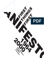 Manifesto 'First things first'