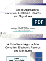 A Risk-Based Approach to Compliant Electronic Records