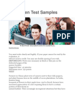 YPP Written Test Samples