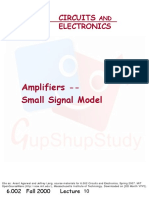 Amplifiers - Small Signal Model