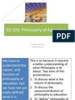 Lec 1 - Philosophy and Education