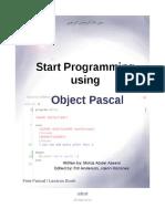 Start Progg Using Pascal