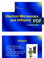 1 Introduction - Electron Microscopy and Diffraction
