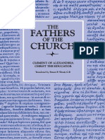 Fathers of the Church, Volume 23 Christ the Educator