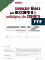 Como Negociar Lineas de Descuento y Anticipo de Creditos