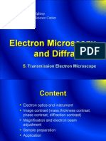 5. TEM - Electron Microscopy and Diffraction