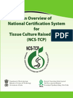 Overview of National Certification System for Tissue Culture Raised Plants
