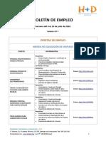 BOLETÍN DE EMPLEO Nº7 - FUNDACIÓN H+D