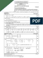 Bacalaureat 2016. Barem de evaluare și de notare  Matematică - Profil Mate-Info