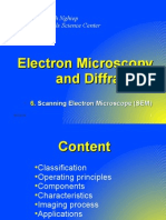 6. SEM - Electron Microscopy and Diffraction