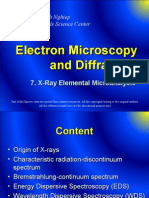7. EDS-WDS - X-Ray Elemental Micro Analysis -Electron Microscopy and Diffraction
