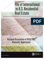2016 Profile of International Home Buying Activity