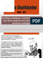 Emile Durkheim Presentación