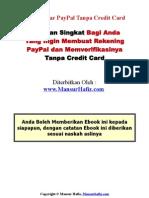 Daftar Paypal tanpa kartu kredit