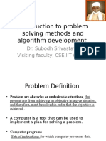 Introduction to Problem Solving Methods and Algorithm Development by Dr. S. Srivastava..
