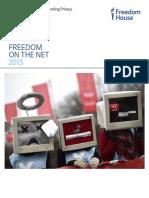 Rapport 2015 de la Freedom House sur la liberté du net dans le monde