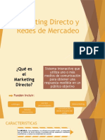Marketing Directo y Redes de Mercadeo