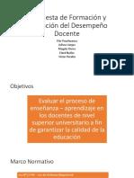 Propuesta de Formación y Evaluador Del Desempeño Docente