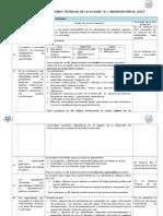 Tabla de Especificaciones 2do.grado
